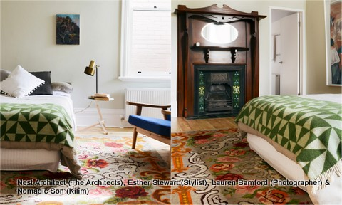 Nest Architect (The Architects), Esther Stewart (Stylist), Lauren Bamford (Photographer) & Nomadic Son (Kilim)