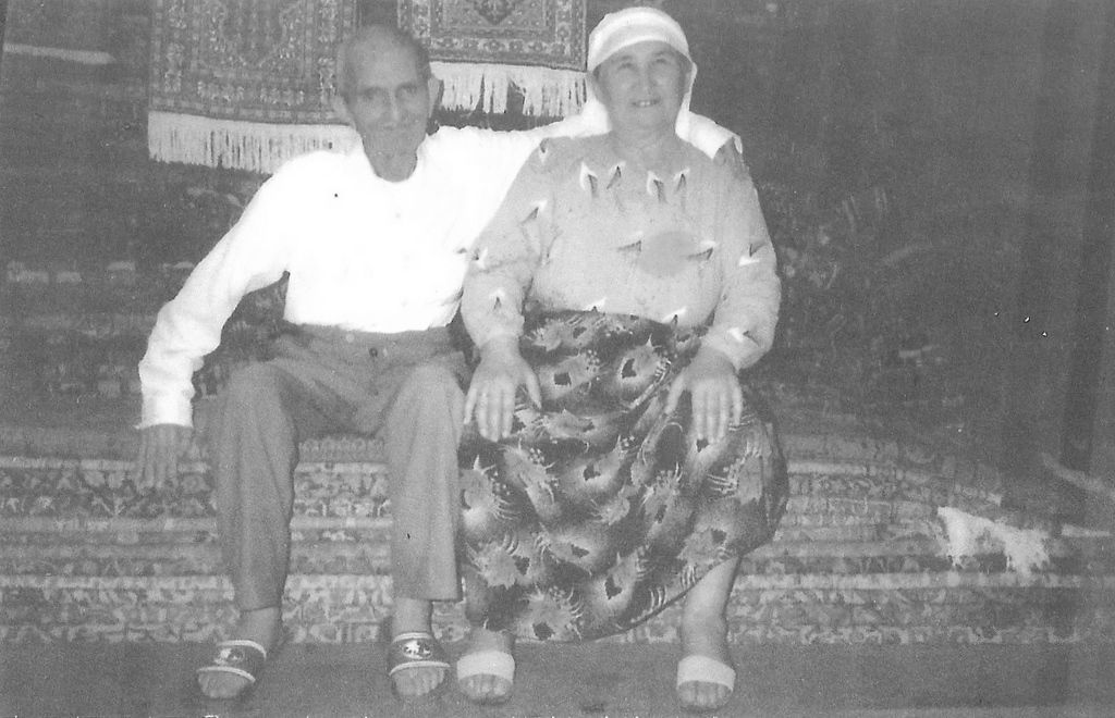 My grandparents in our first rug shop.